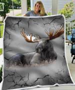 Moose Broken Blanket