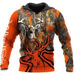 Logo Deer Camo Orange 3D
