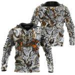 Deer Hunter White Orange Under HB 0611