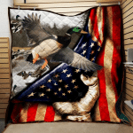 Duck Hunting Flag Quilt