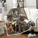 Hunting Sherpa Fleece Blanket