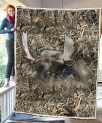 Moose Hunting Camo Blanket