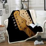 Guitar Sherpa Fleece Blanket