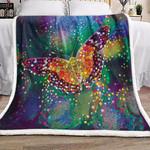 Butterfly Sherpa Fleece Blanket