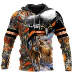 Deer Orange Hoodie MCL132005Q07VT