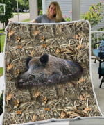 Boar Hunting Camo Blanket