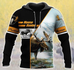 Moose Hunting Art All Over Printed 0701