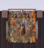 Deer Hunting Orange Bedding Set