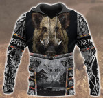 Boar Hunting Black All Over Printed 2712