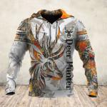 Tatoo Deer Orange White 3D
