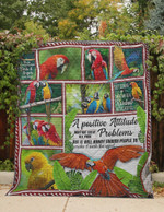 Parrot Parrot Attitude Quilt Blanket