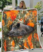 Boar Orange Blanket