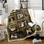Dog Sherpa Fleece Blanket