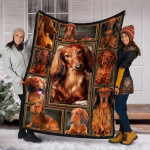 Dachshund Dog Fleece Blanket