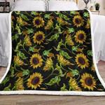 Sunflower Sherpa Fleece Blanket