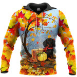 Dachshund Autumn 3D
