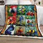 Parrot Sherpa Fleece Blanket