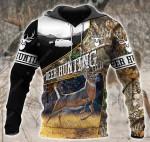 Deer Hunting Black All Over Printed 2612