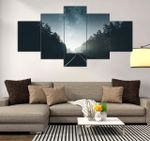 Night Sky Beautiful Scenery Nature 5 Pieces Canvas Unique Home Decor 37