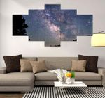Night Sky Beautiful Scenery Nature 5 Pieces Canvas Unique Home Decor 39