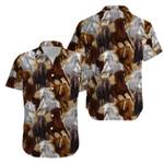 Beautiful Horse art Hawaiian Aloha Shirts #KV