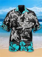 Shark mandala Hawaiian Aloha Shirts #KV