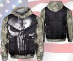 US Army Skull military Hoodie #V
