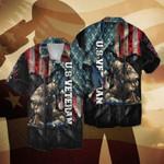Us Veteran Soldier American Flag color Hawaiian Aloha Shirts #KV