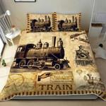 Amazing Vintage Train Duvet Cover Bedding Set
