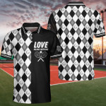B&W Tennis Love Means Nothing Polo Shirt
