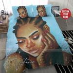Black Girl Star Personalized Name Duvet Cover Bedding Set #207H