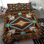 Brown Native American Duvet Cover Bedding Set #H