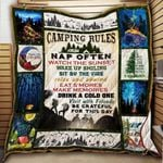 Camping Rules Adventures All Season Quilt Throw Blanket #0606V