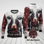 Cows Merry Christmas Ugly wool sweaters #V