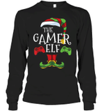 Gamer Elf Family Matching Christmas Group Funny Gift Pajama T-Shirt Sweater