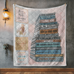 Gift for Mother Book mom To my daughter never forget how much I love you Quilt Blanket gift for mother day #V