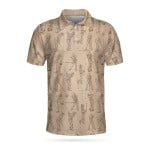 Golfer Pencil Painting Short Sleeve Polo Shirt - Father's Day Gifts #DH
