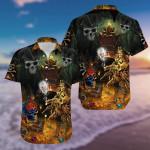 Halloween -  Amazing Pirate Skull Finding Treasure Hawaiian Shirts #H