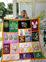 Happy Easter Lovely Bunny All Season Quilt Throw Blanket #L