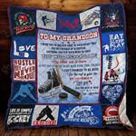 Ice Hockey to my grandson All Season Quilt Throw Blanket #0806V