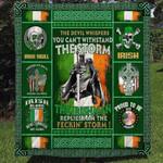 Irish Pride Happy St. Patrick's Day All Season Quilt Throw Blanket #L