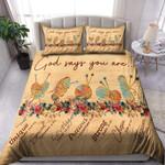 Knitting God Says You Are Duvet Cover Bedding Set
