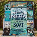 Lake Lover Boat All Season Quilt Throw Blanket #V
