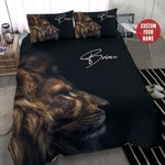 Lion Face Cool Personalized Name Duvet Cover Bedding Set #1709H