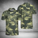Military Air Plane Camouflage Pattern Polo Shirt