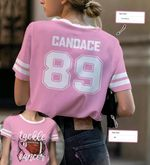 Football Tackle Cancer Custom Name And Number Unisex T-Shirt 3D