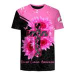 Faith Hope Strength BC Pink Ribbon Unisex T-Shirt 3D