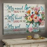 Butterfly My Mind Still Talk To You Jesus Canvas Prints #V