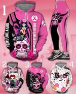 Skull Girl Breast cancer Awareness Hoodie Or Legging #KV