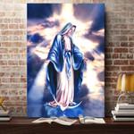 Virgin Mary Jesus Canvas Print #KV